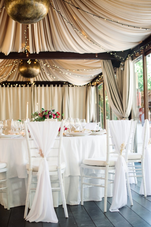 romantic tented wedding reception