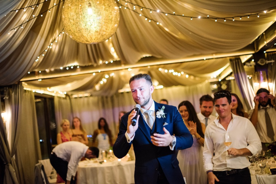gold and white wedding reception ideas