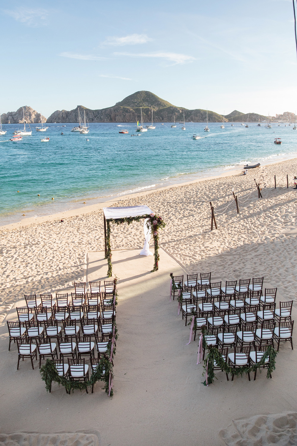beach wedding ceremony in Cabo Mexico