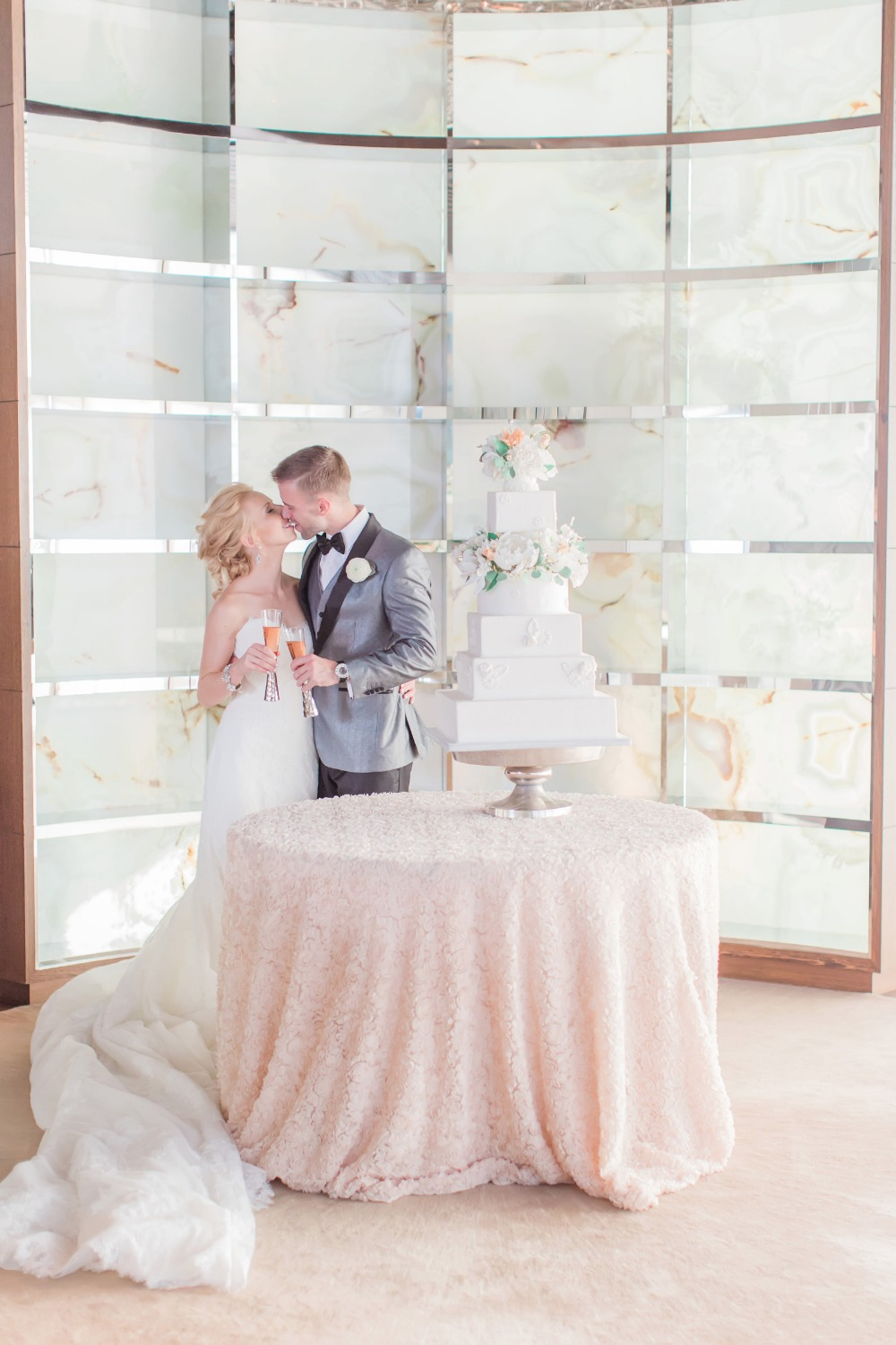 Beautiful modern wedding cake