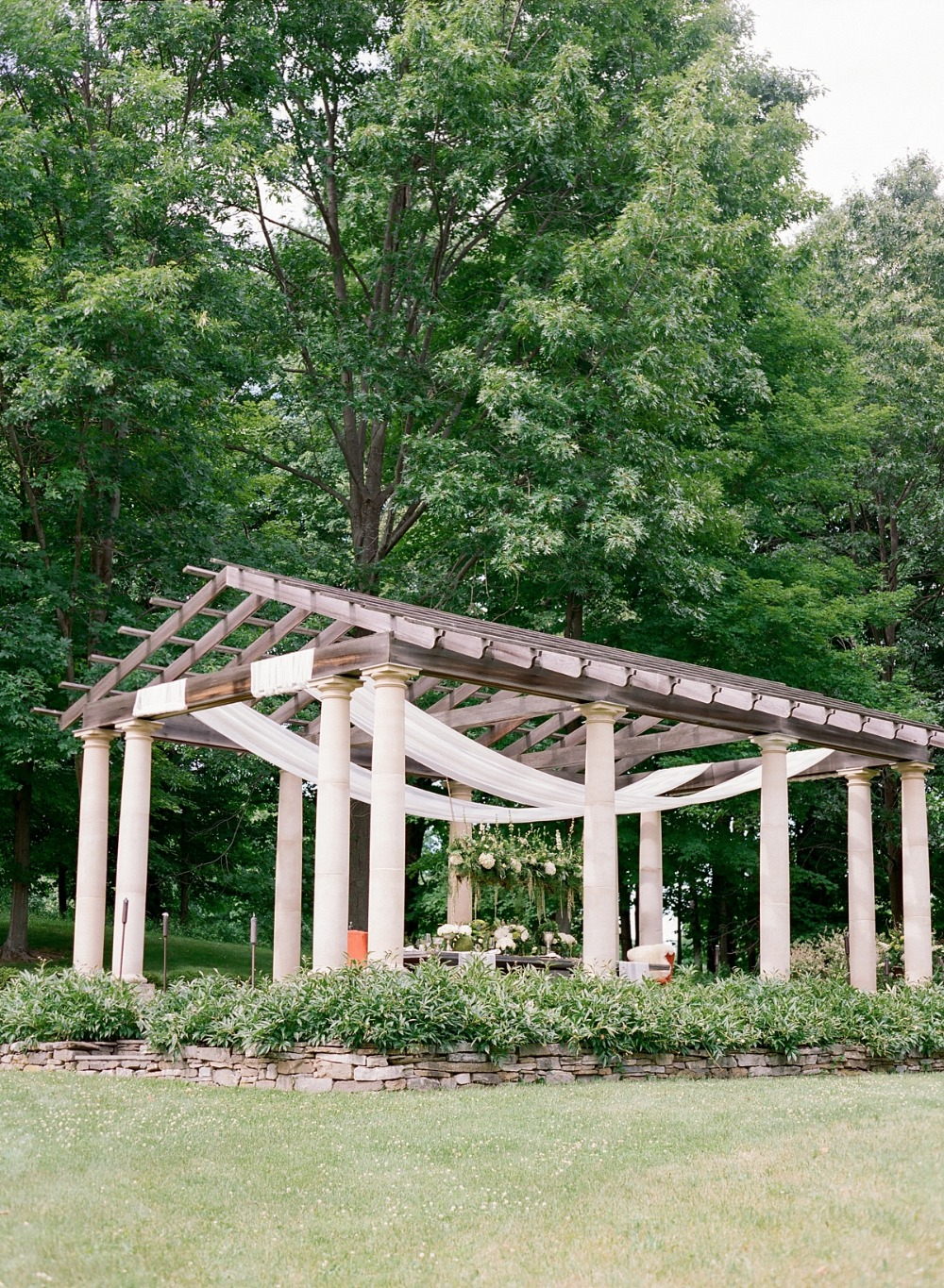 Outdoor wedding pergola