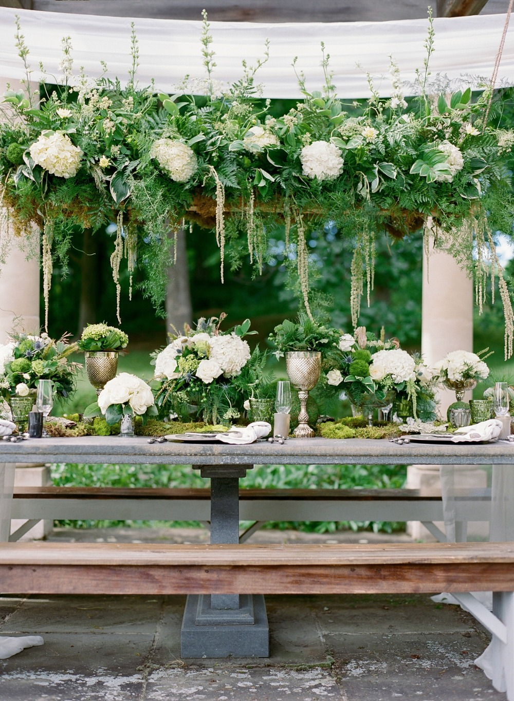 Beautiful green reception
