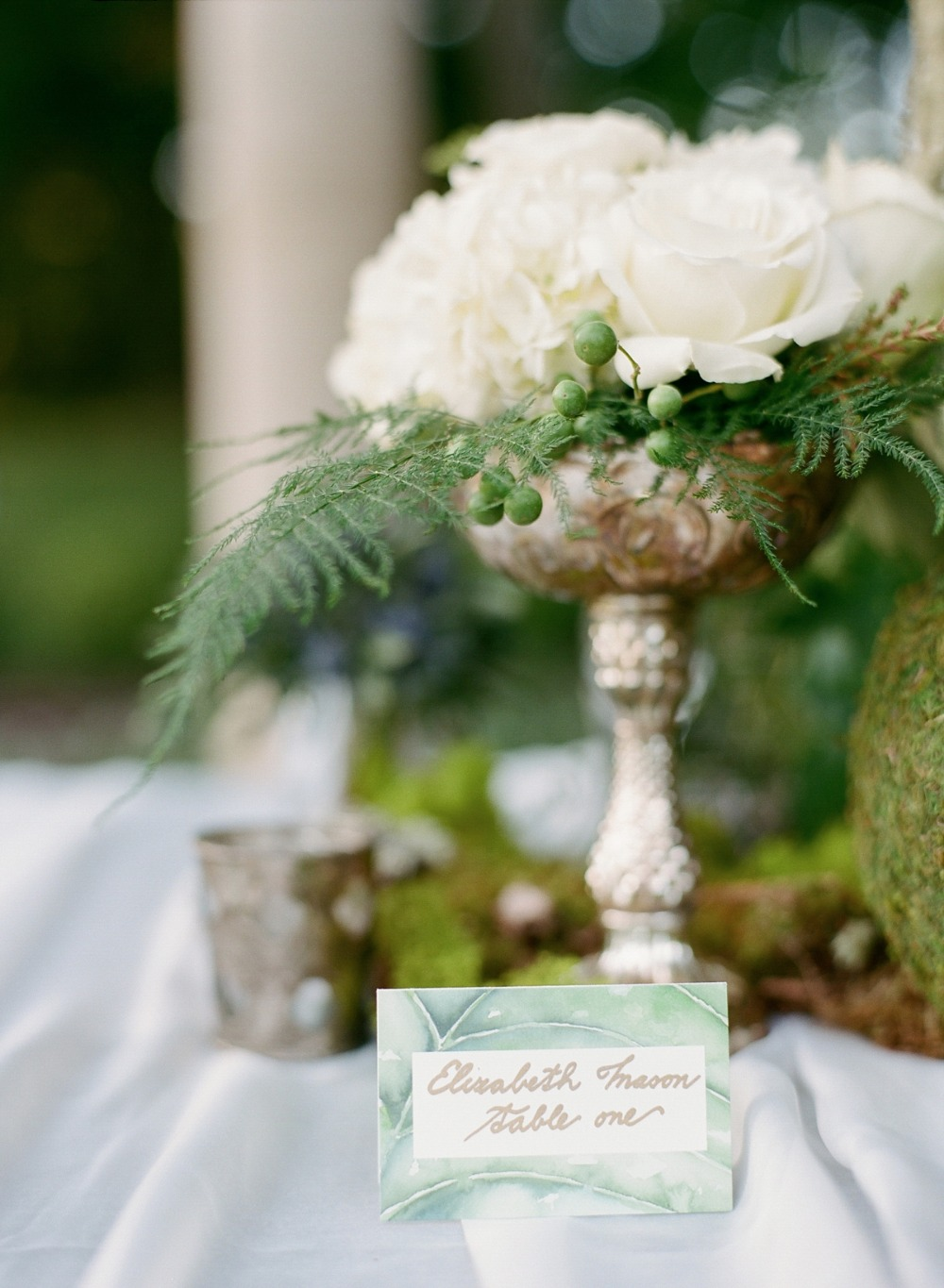 Pretty water color place card