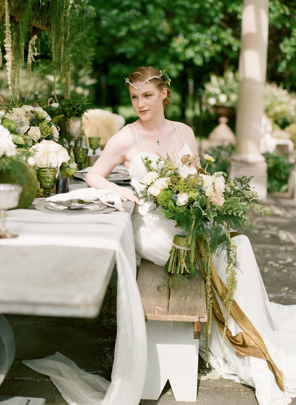 Whimsical Irish bridal look