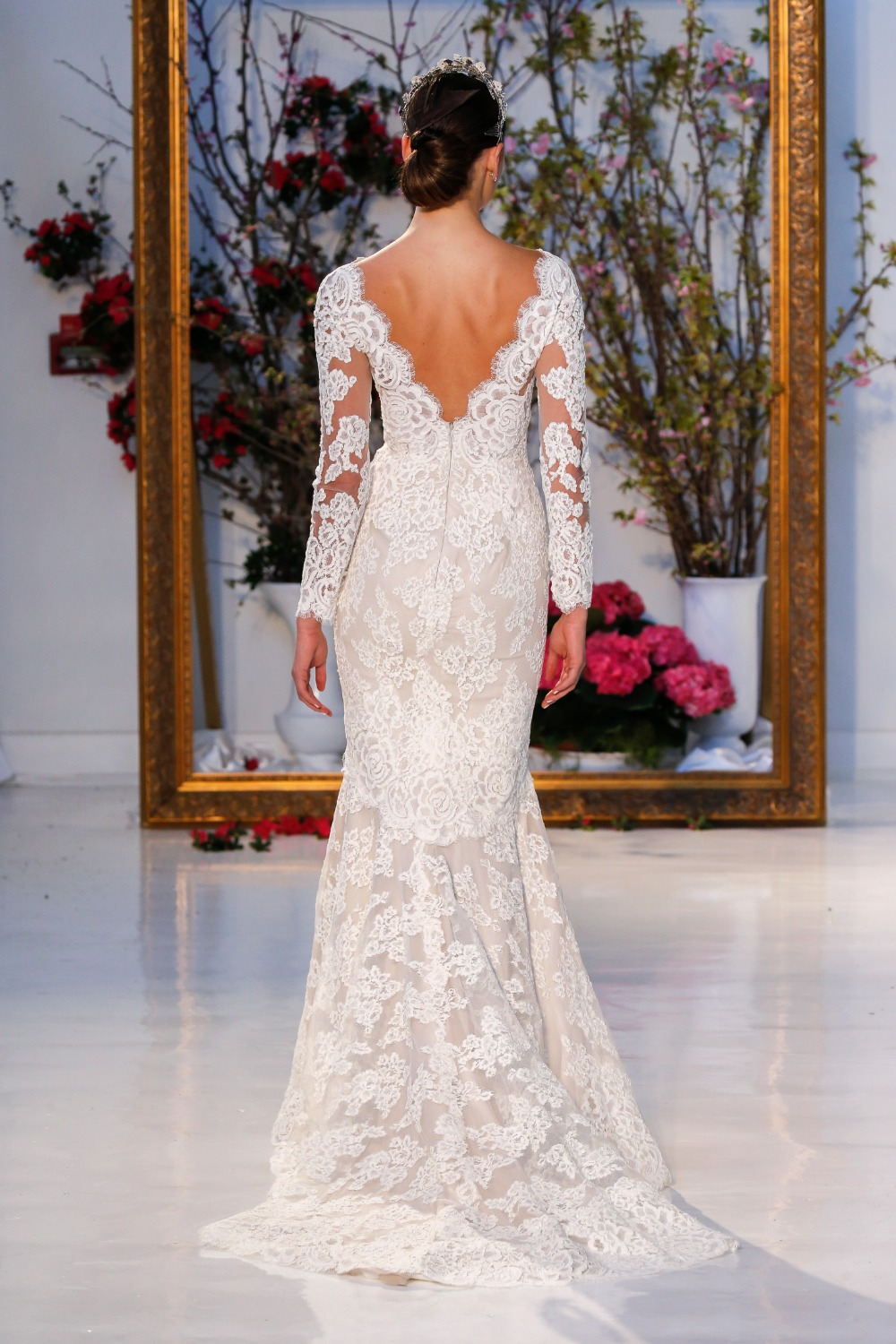 back of Anne Barge Laurel wedding gown