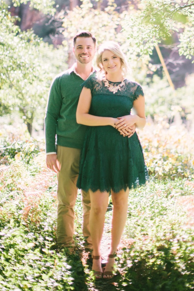 feeling green engagement outfits