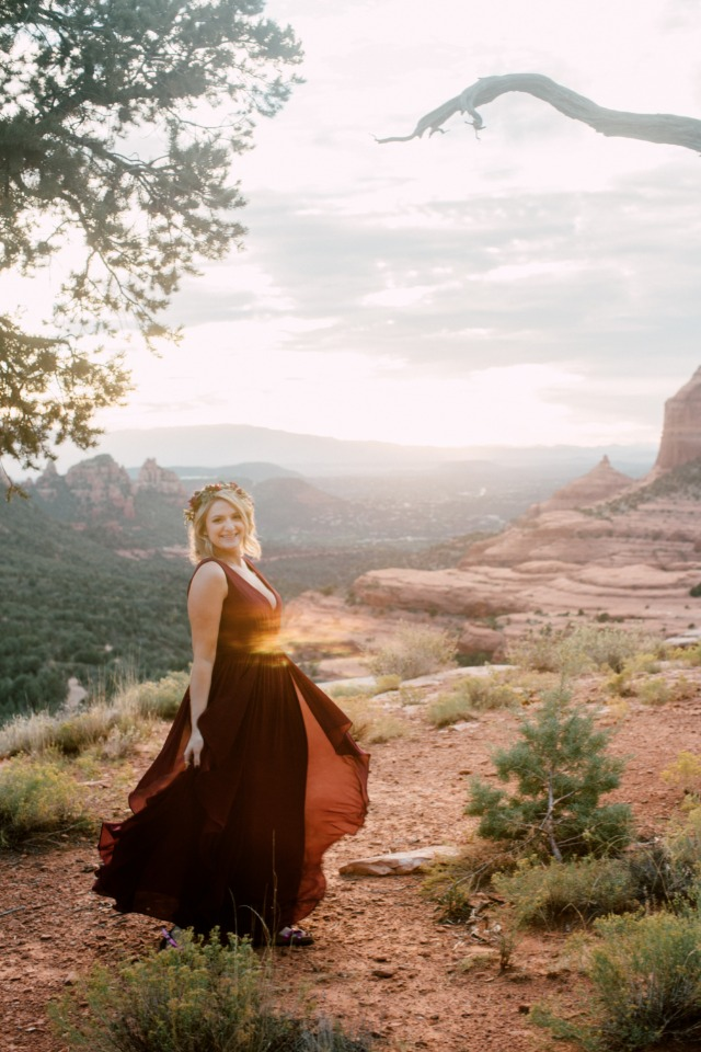 cute bride to be engagement photo