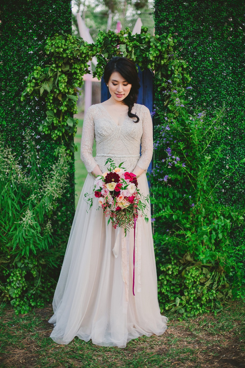 Gorgeous gown and bouquet