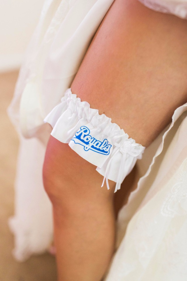sports team wedding garter