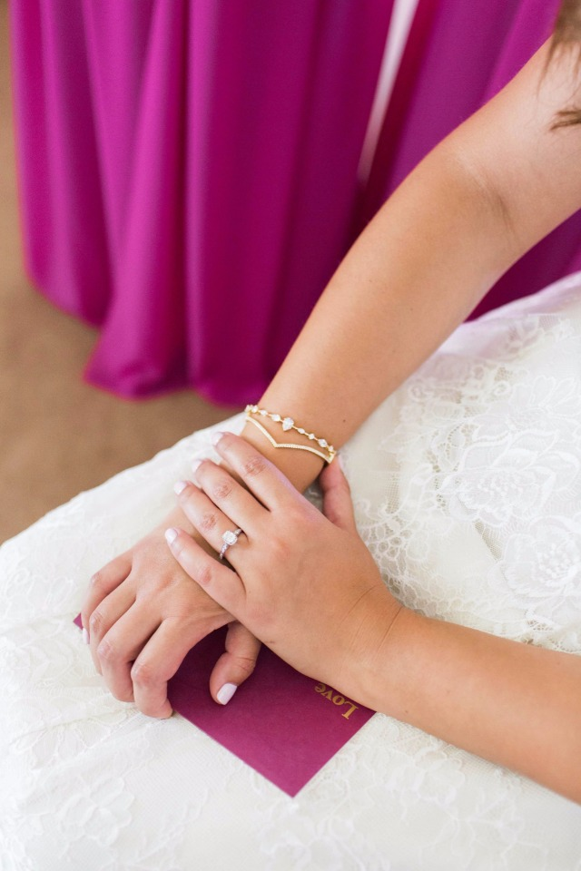 gold chevron wedding bangle