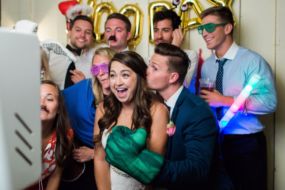 funny photo booth for your reception