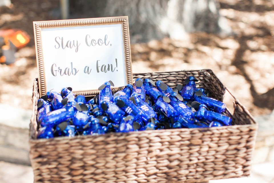 stay cool grab a fan wedding favor