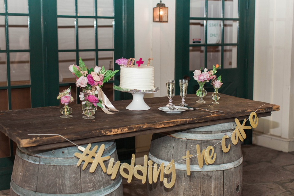 cute rustic chic cake table