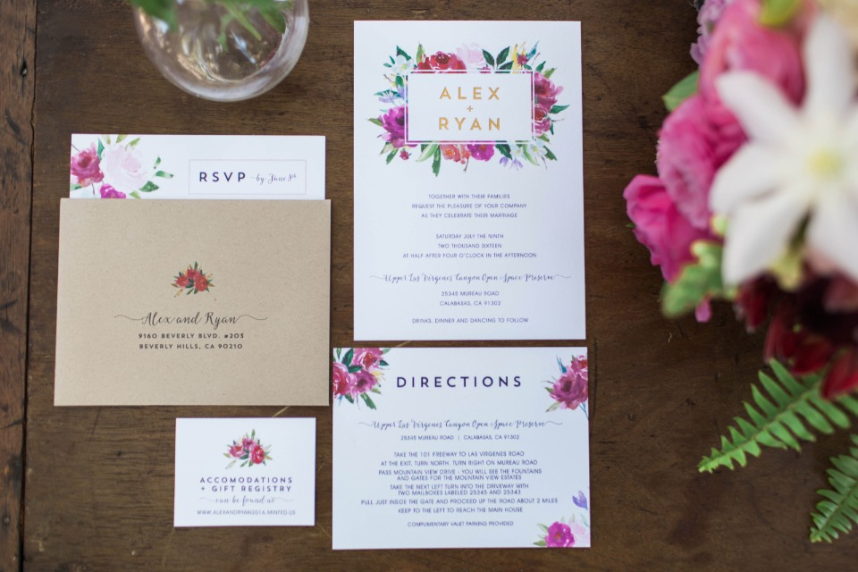floral wedding stationery from Pape Tie Affair