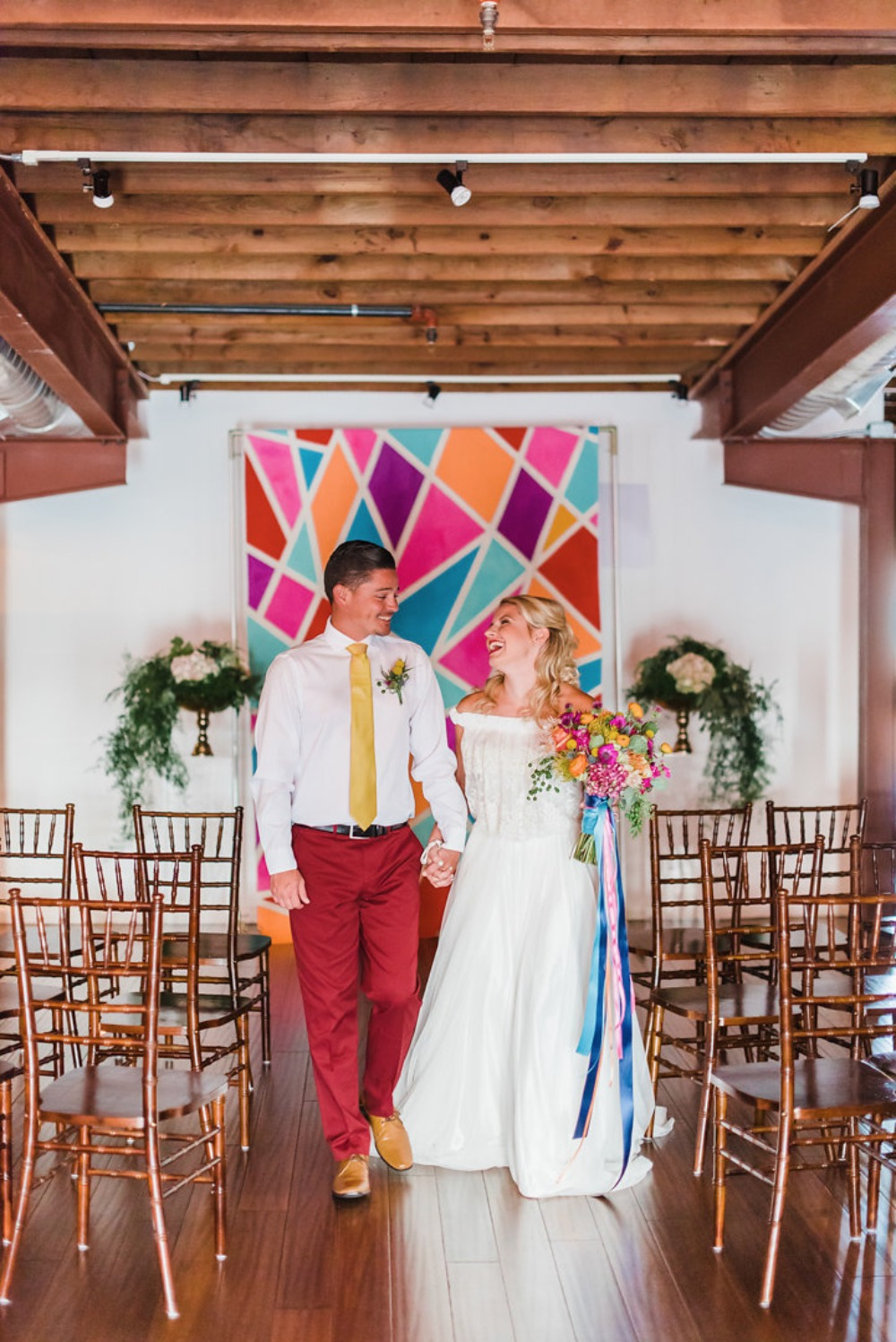 Colorful ceremony ideas