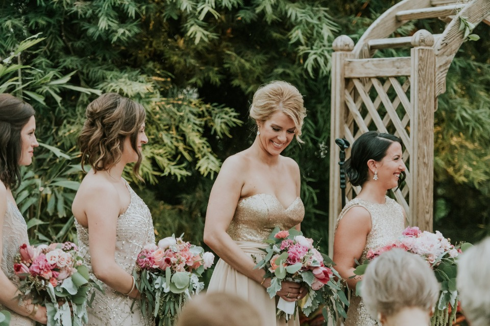 smiles for all the bridesmaids