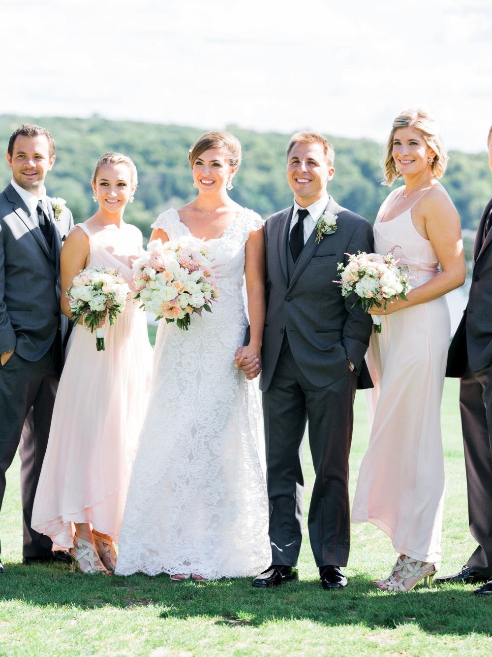 intimate pink and grey wedding ideas