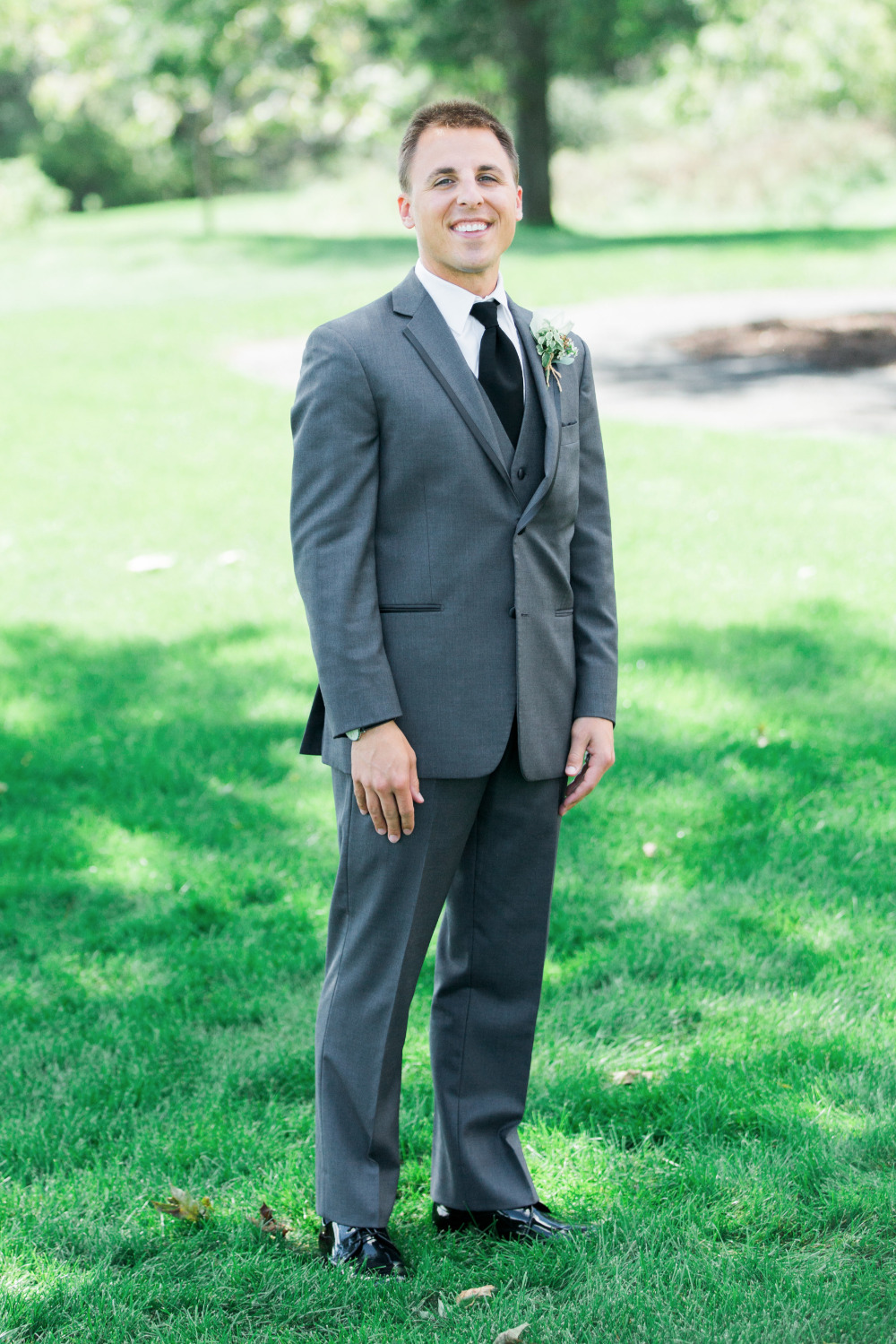 grey wedding fashion for groom