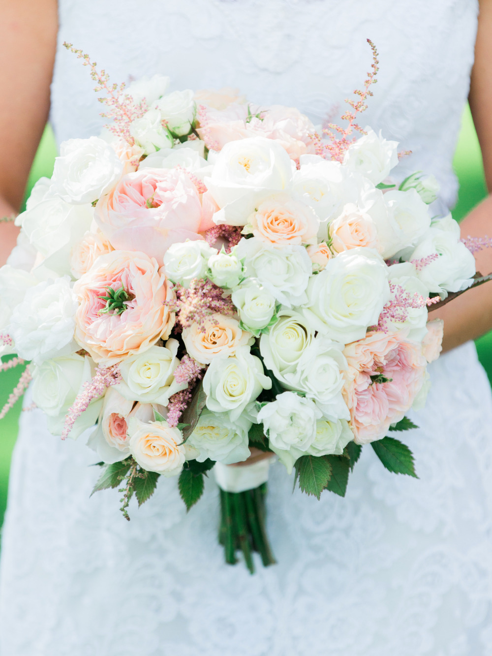 stunning pink and white wedding bride bouquet