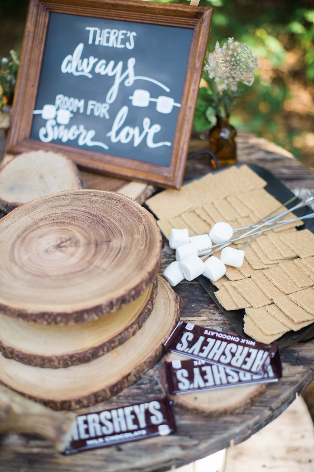 Smores bar for your wedding reception