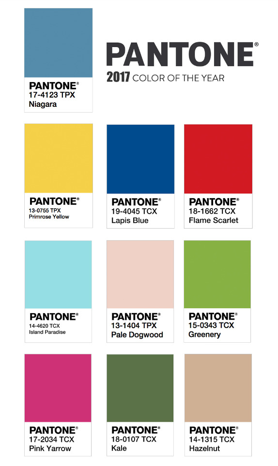 2017 pantone color of the year and your minted wedding Color combinations numbers