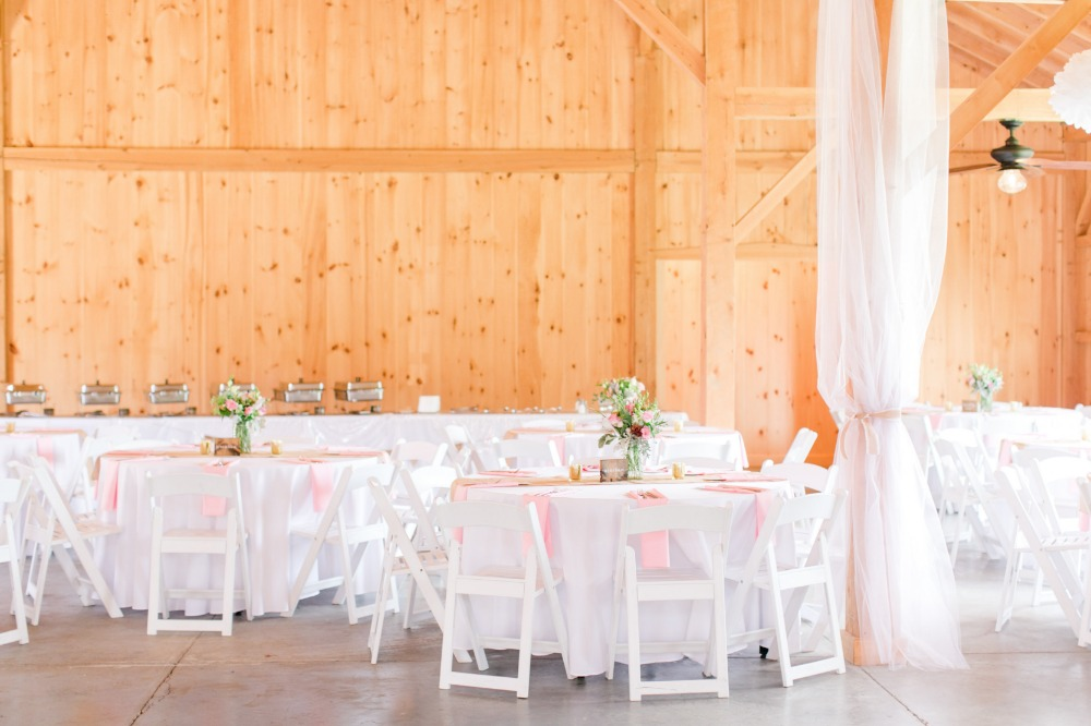White and pink reception