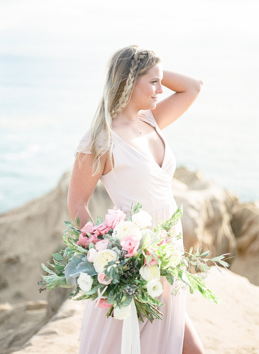 Beach bridal look