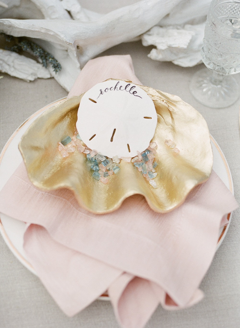 Sea shell place card