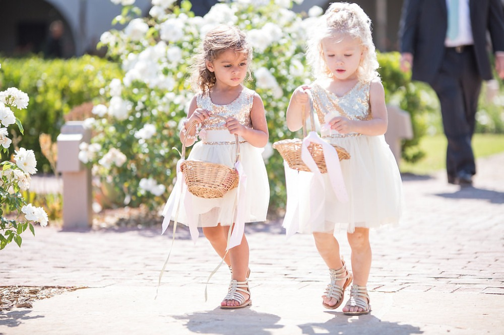 double the trouble with two flower girls