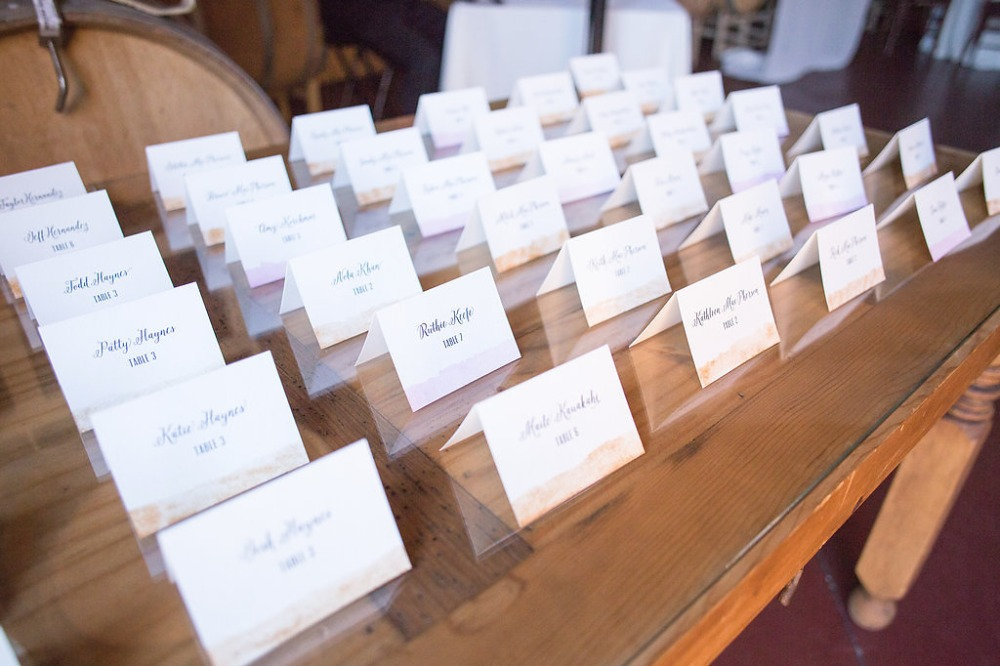escort cards for your wedding reception