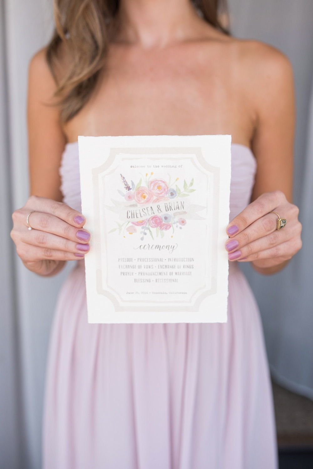 wedding invitations designed and painted by the bride