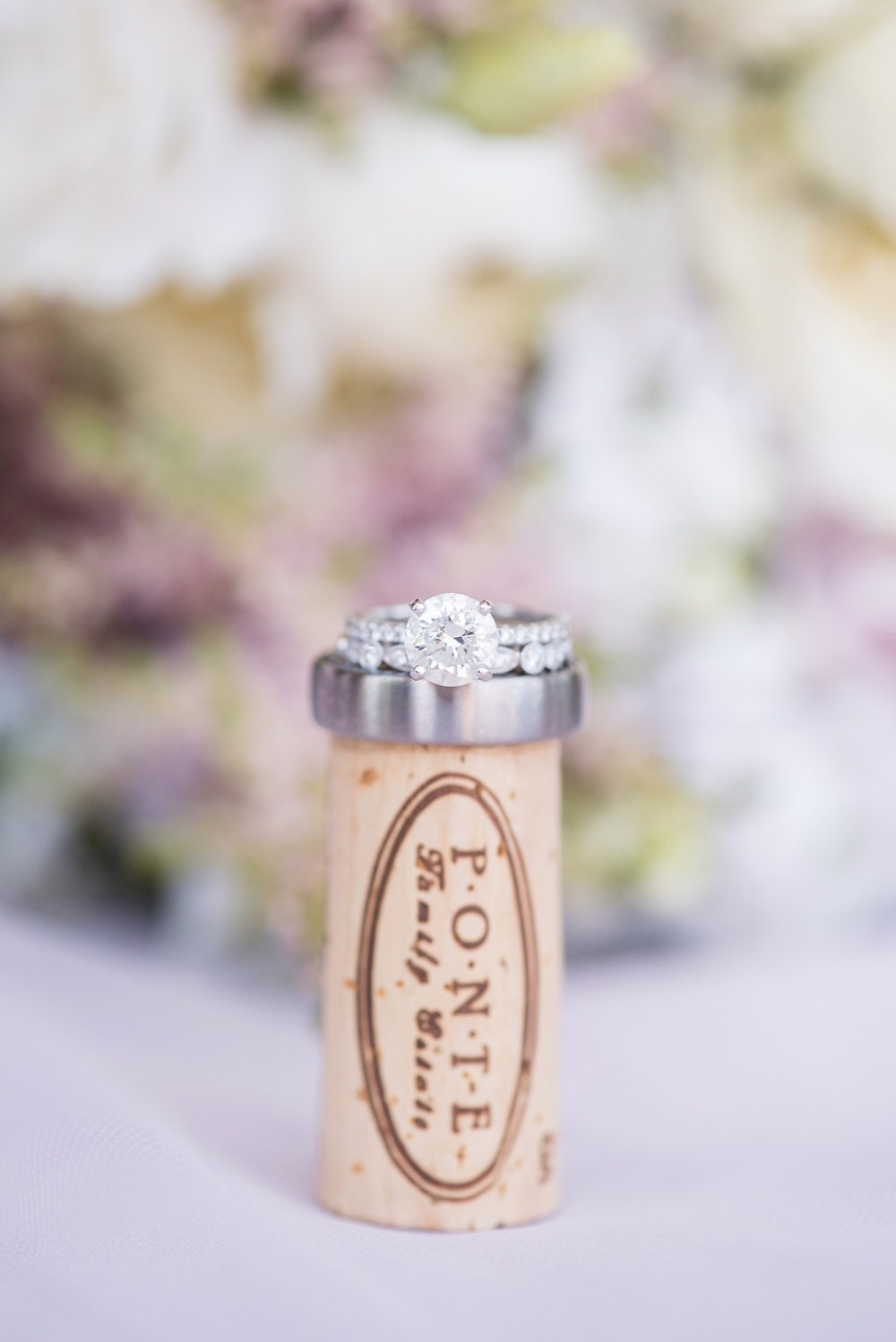wedding ring photo idea for a winery