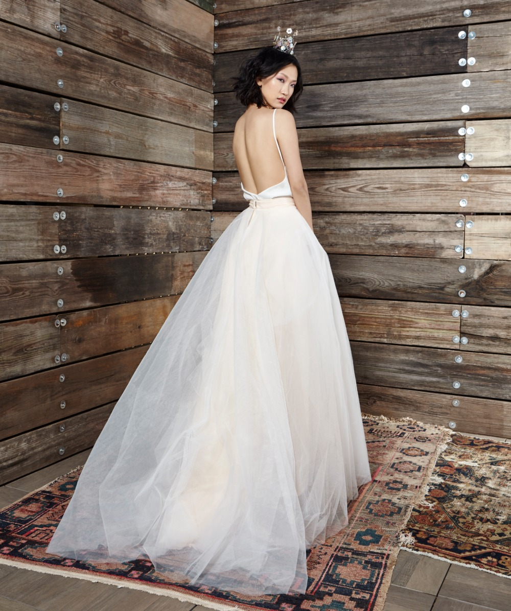 all tulled up with this Ivy and Aster wedding gown