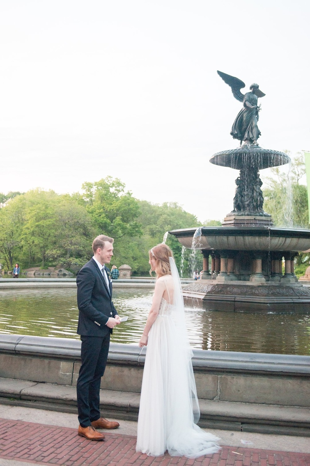 Bethesda Fountain in Central Park elopement