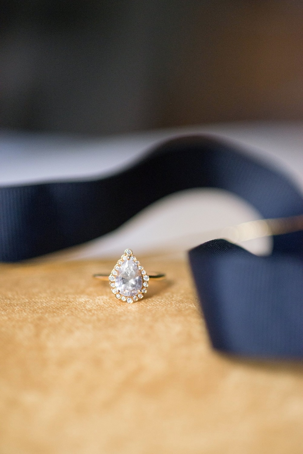 Pear shaped diamond wedding ring
