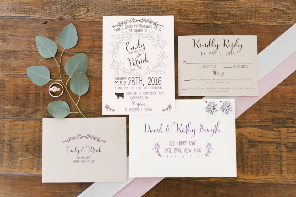 unique hand drawn wedding invitations