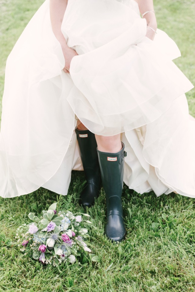 wedding rain boots for your farm wedding