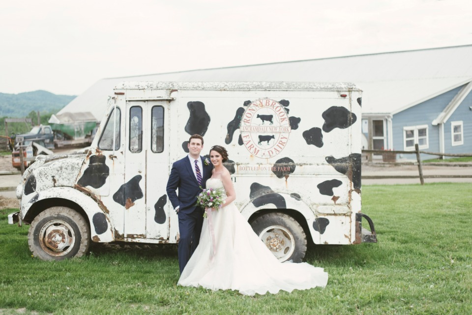 cute cow spotted milk truck