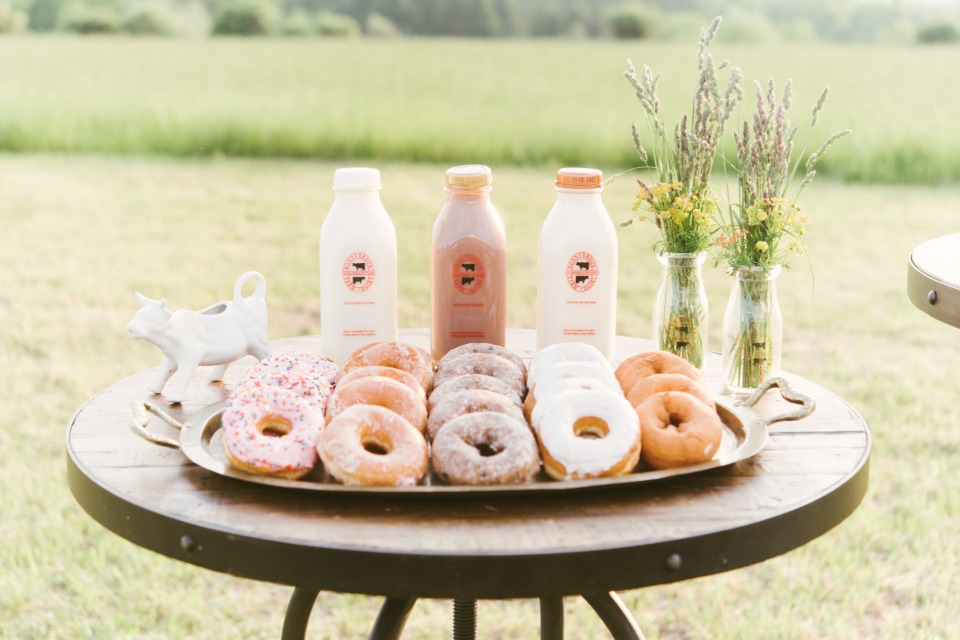 donut bar with fresh milk