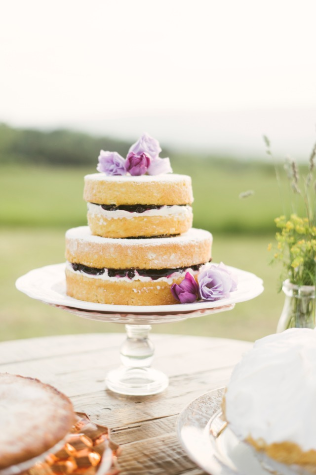 jam filled naked cake