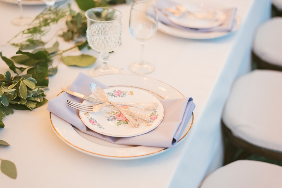 mismatched china place setting