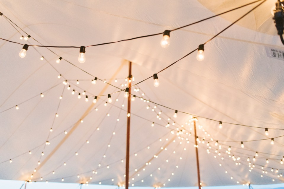 light up your reception with bistro string lights