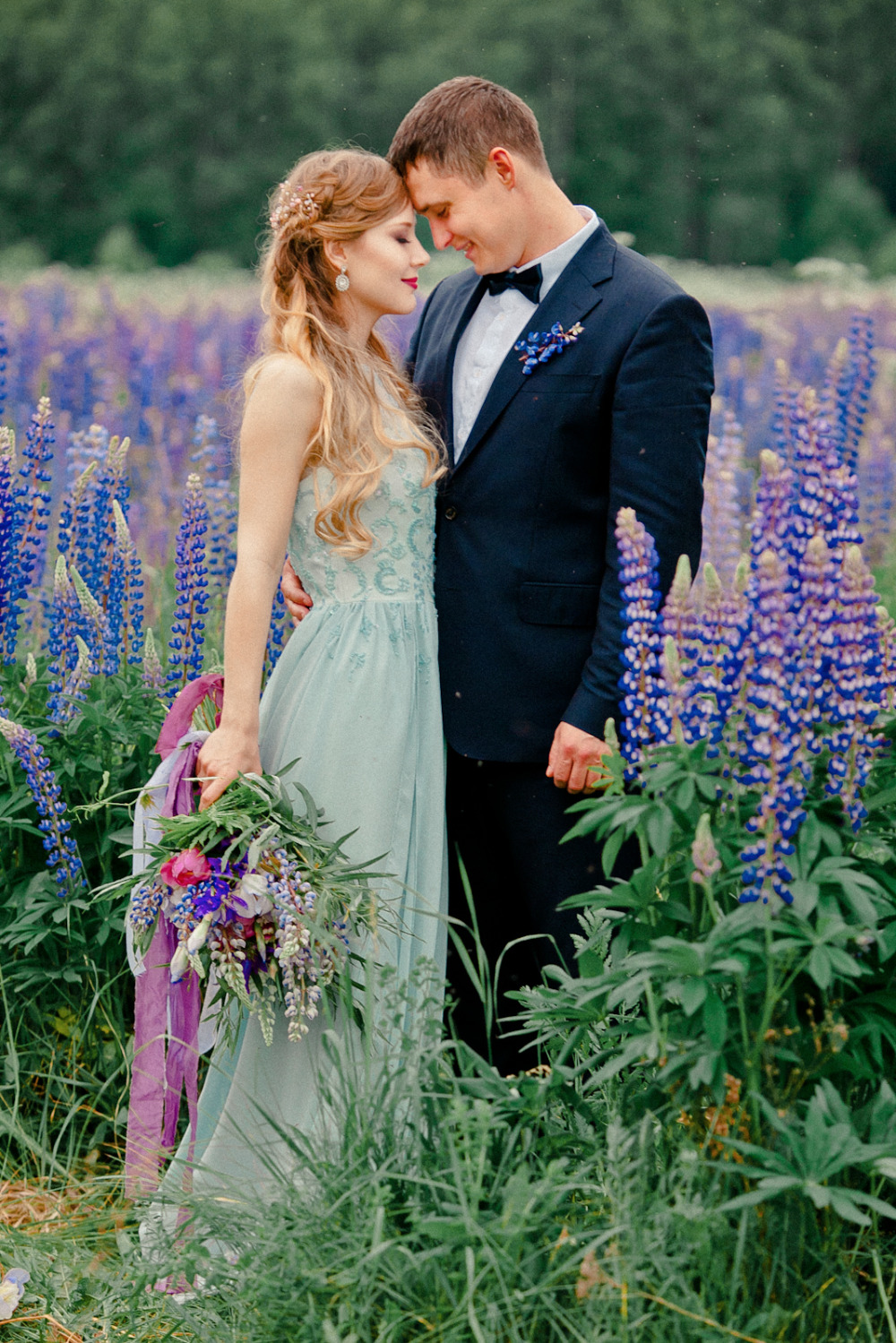 purple lupine vow renewal wedding ideas