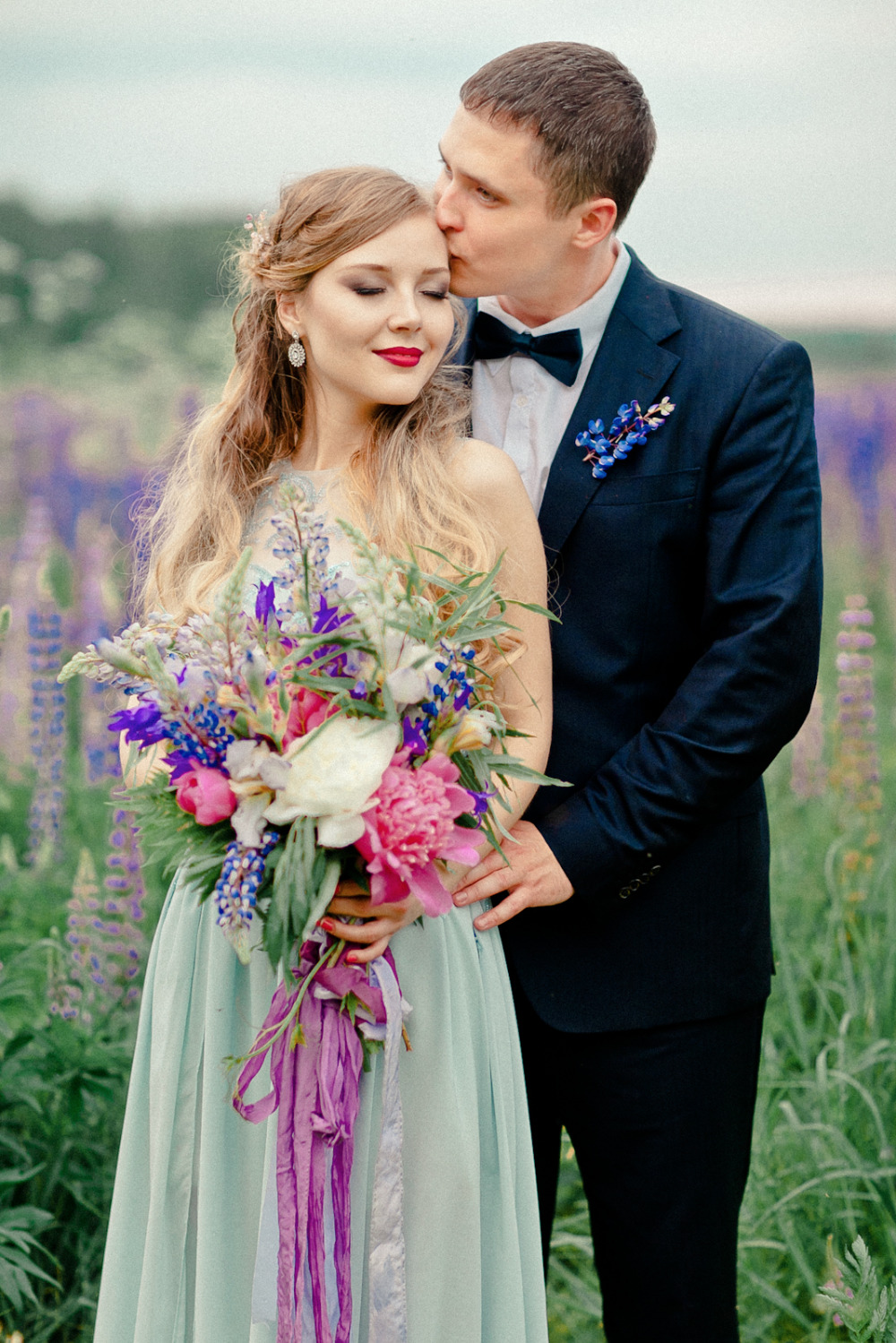 beautiful lupine vow renewal