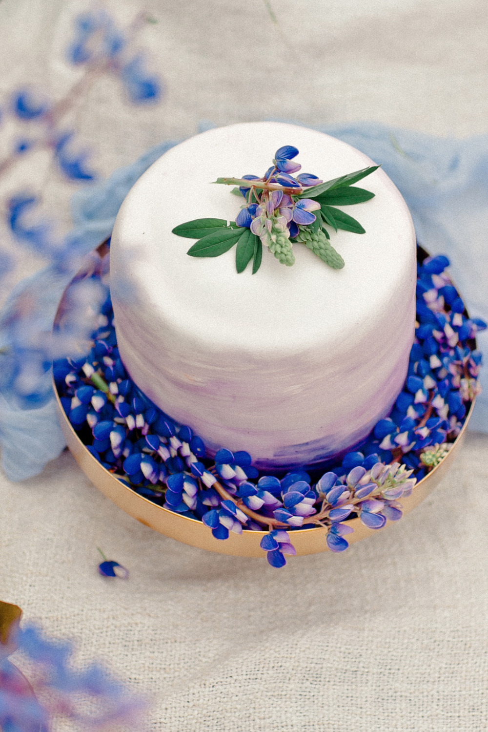 lupine wedding cake inspiration