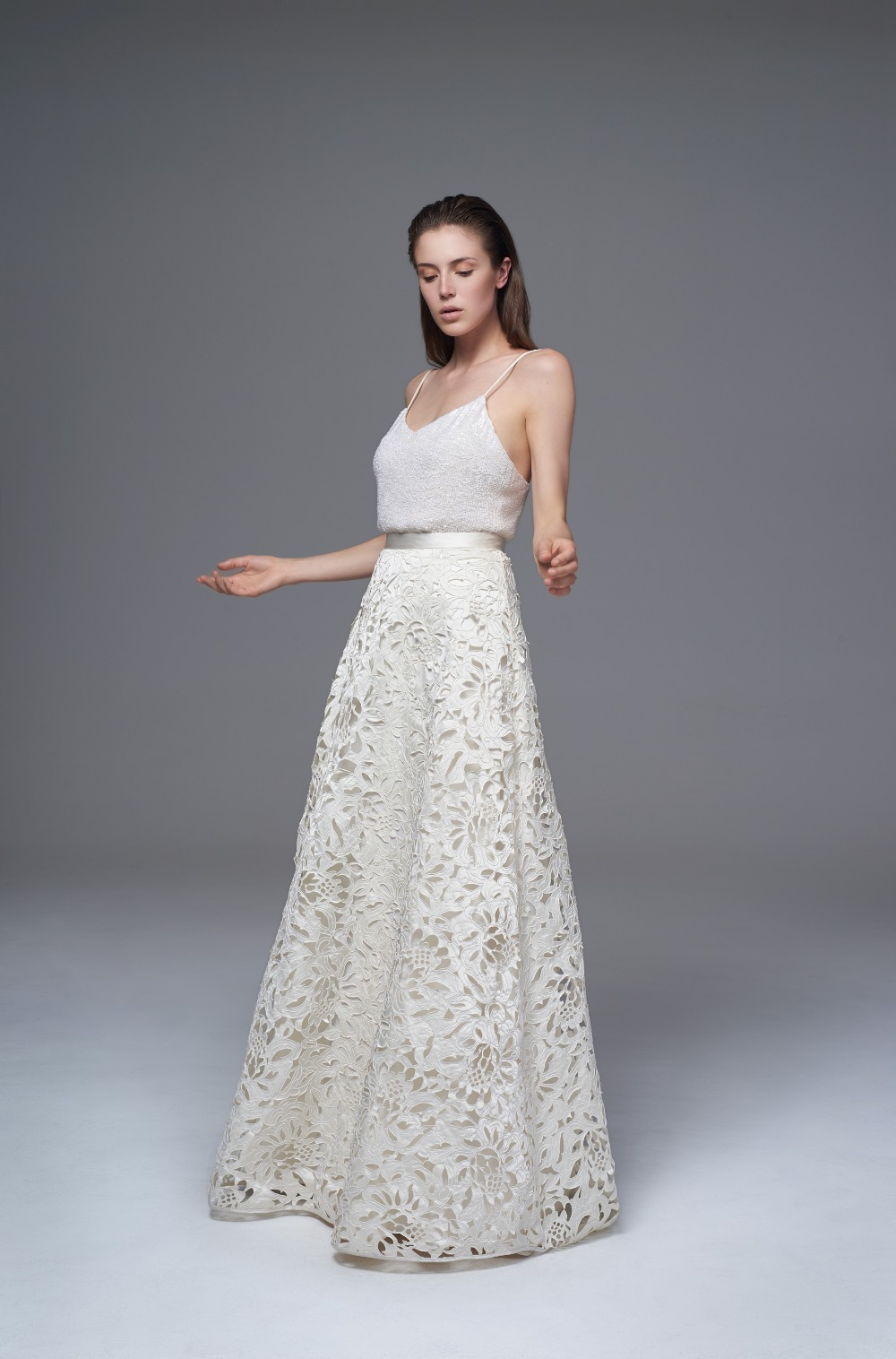 ISOBEL SKIRT CELINE CAMI  FRONT from the Halfpenny Bridal Collection
