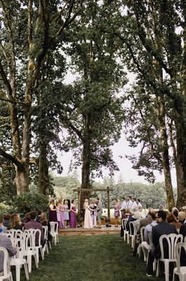 Rustic Natural Purple Wedding
