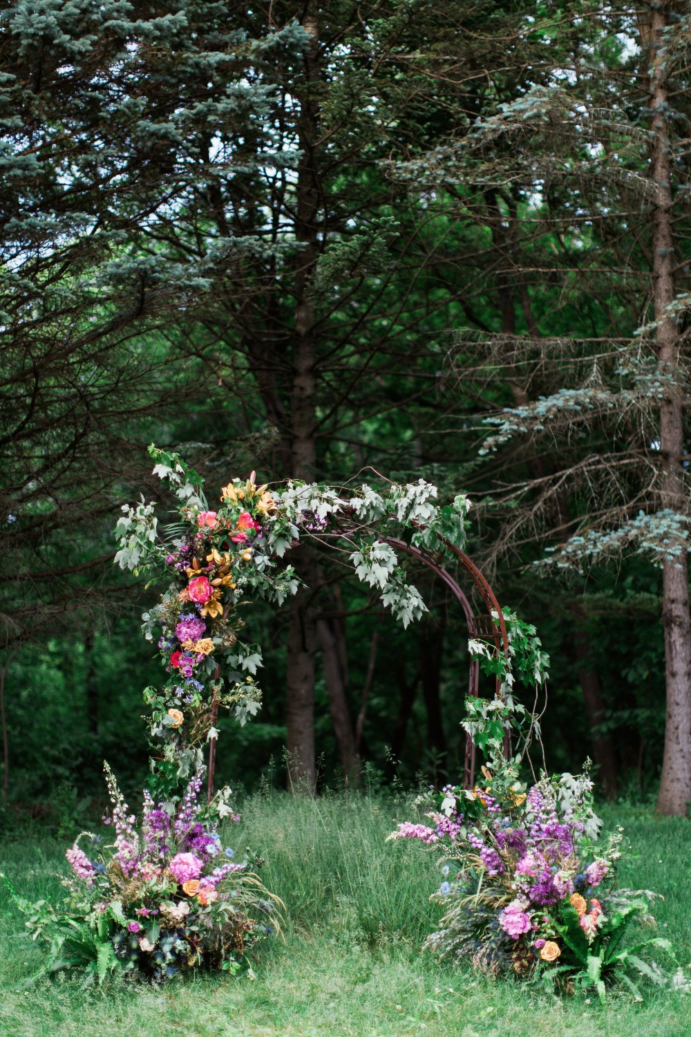 Overgrown ceremony arch idea