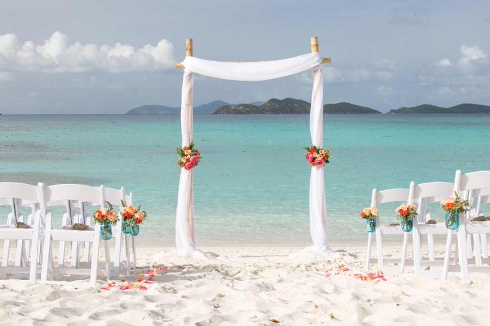 beach wedding ceremony idea