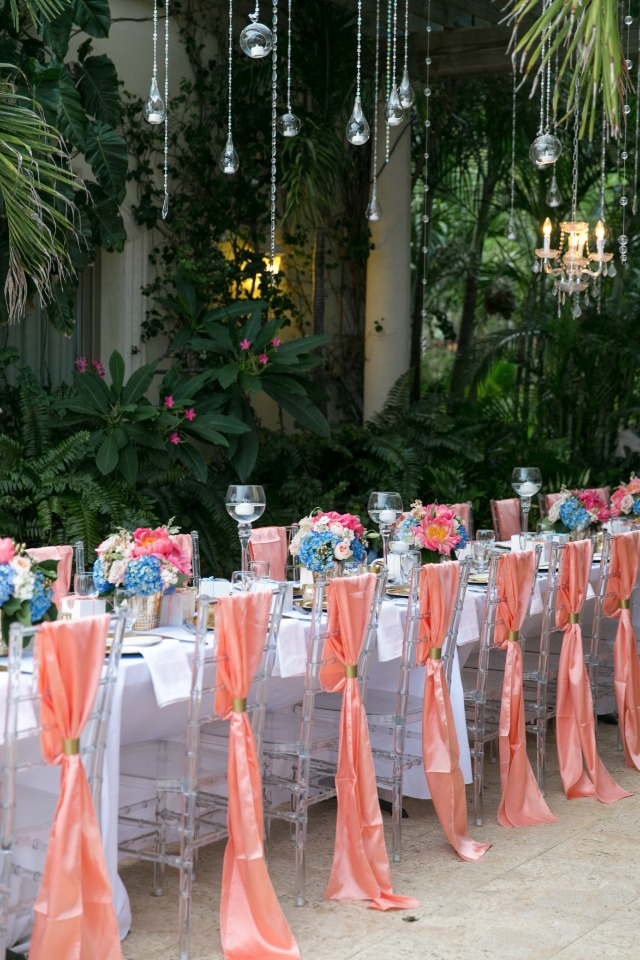 silk draped wedding seating decor